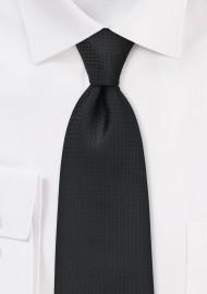 Textured Black Tie for Kids