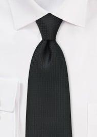 Textured Black Tie in XL Length