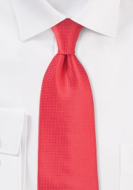 Textured Coral Necktie in Kids Size