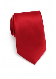 Red men's ties - Solid cherry red tie