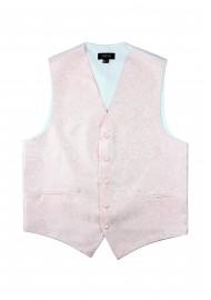 Wedding Paisley Vest in Blush Pink