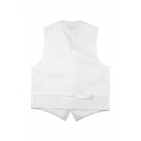 Ivory Wedding Vest with Paisley Design Back