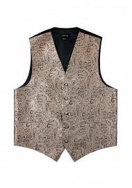 Formalwear Paisley Vest in Bronze Gold