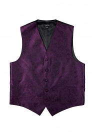 Paisley Designer Vest in Berry Purple