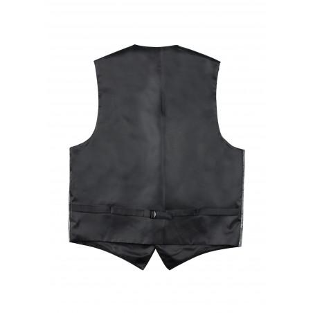 Paisley Dress Vest in Mercury Silver Back