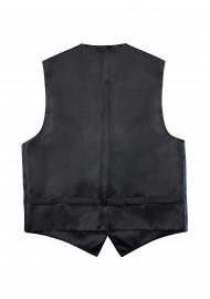 Paisley Dress Vest in Steel Blue Back