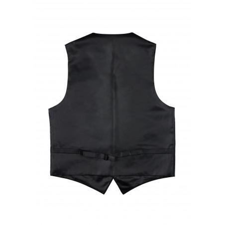 Black Mens Dress Vest with Paisley Design Back