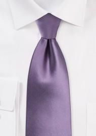 Solid Wisteria Tie in XL