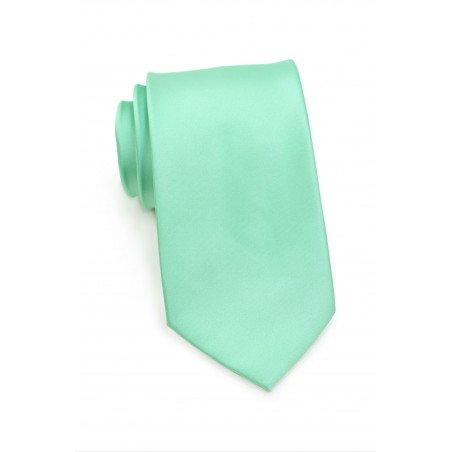 Bright Mint Colored Kids Sized Tie