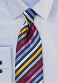 Multi Colored Striped Kids Necktie