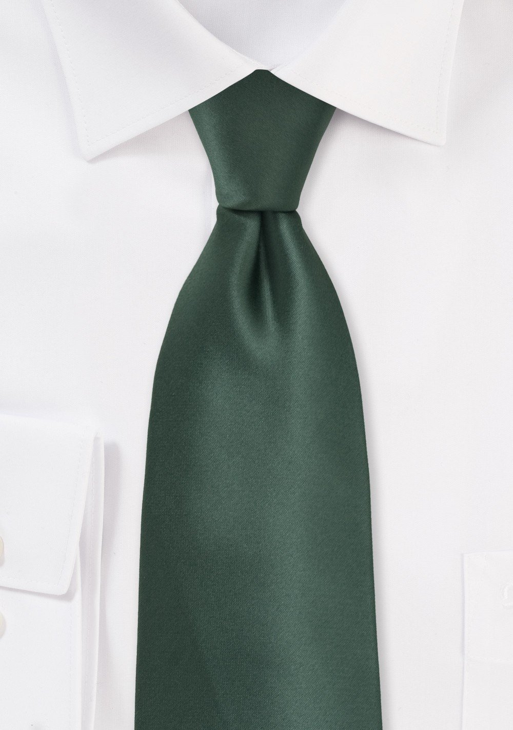 Pine Green Kids Tie in Solid Colors