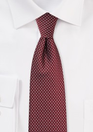 Burgundy Hued Pin Dot Tie