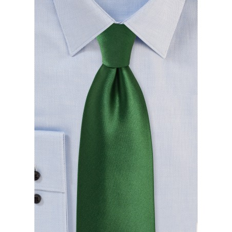 Forest Green Tie for Kids