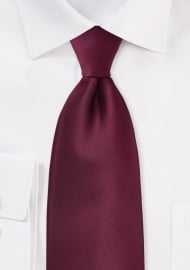 Solid Kids Neck Tie in Classic Burgundy Red