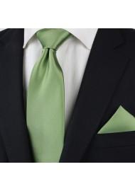 Sage Color Tie Styled