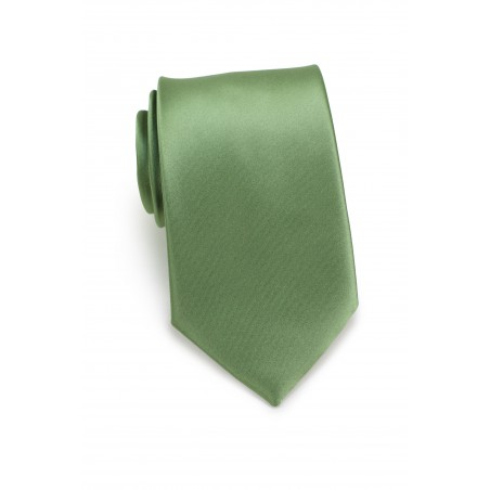 Sage Color Tie for Tall Men