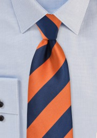 Preppy Kids Tie in Orange and Navy
