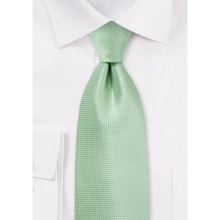 Kids Length Tie in Seacrest Green