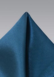 Dark Teal Colored Pocket Square