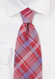 Red and Blue Checkered Tie in Kids Size