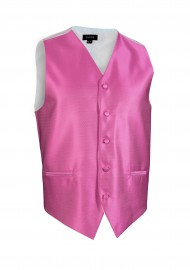 Mens Textured Dress Vests in Bright Begonia Pink