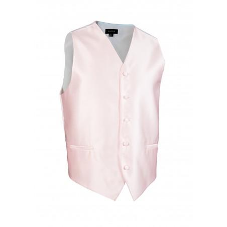Textured Formal Dress Vest in Blush Pink