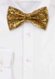Glitter Bow Tie in Vegas Gold formal gold metallic mens bow tie