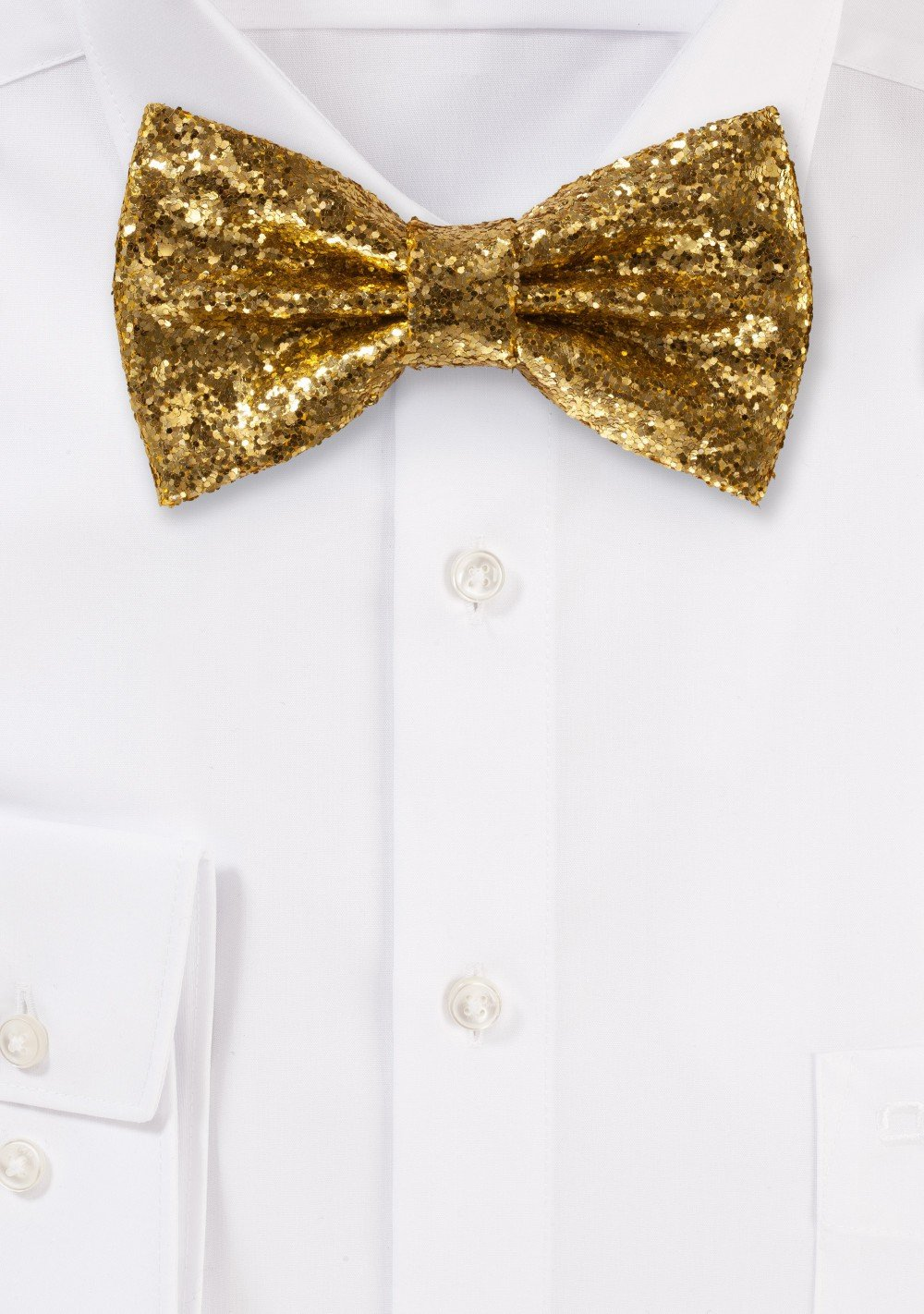 Glitter Bow Tie in Vegas Gold formal gold metallic mens bow tie