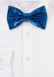 Glitter Bow Tie in Royal Blue metallic blue mens bowties