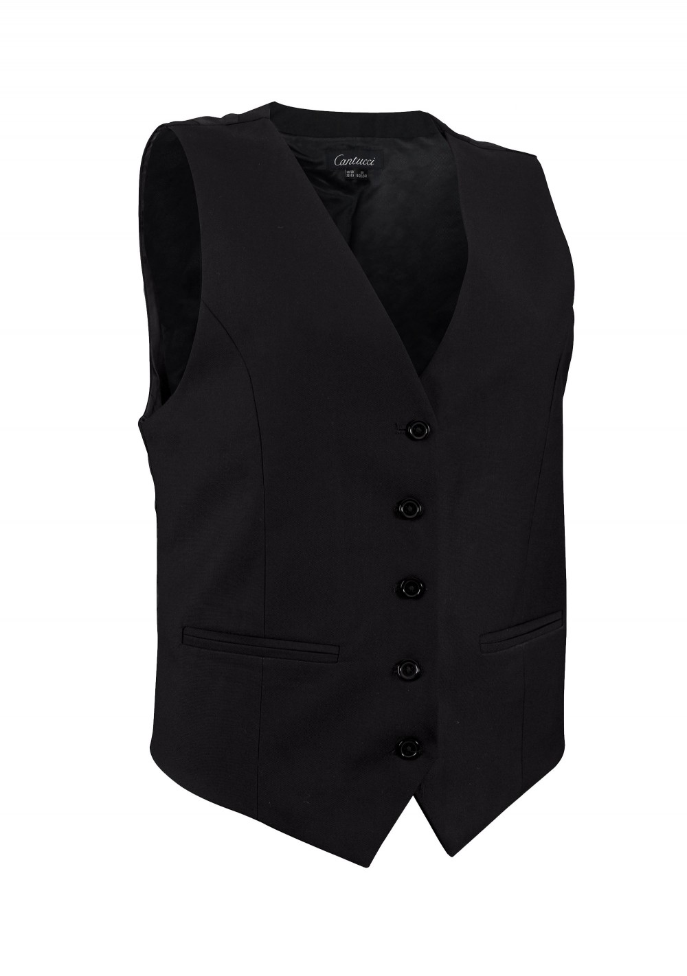 Women's Uniform Suit Vest in Solid Black