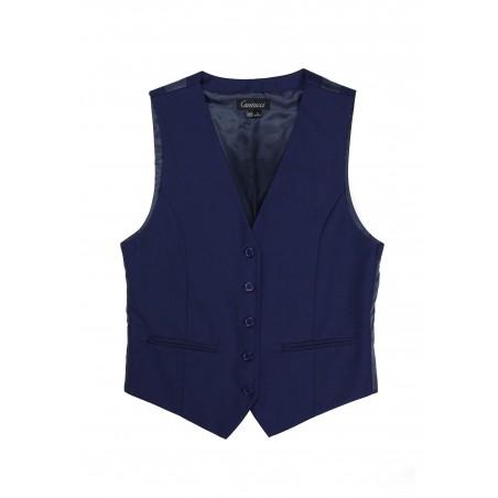 Women's Uniform Suit Vest in Dark Blue Front
