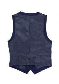 Women's Uniform Suit Vest in Dark Blue Back