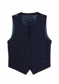 Women's Uniform Suit Vest in Navy Front