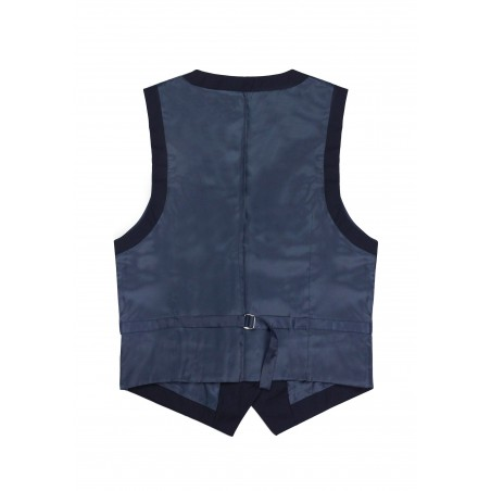Women's Uniform Suit Vest in Navy Back