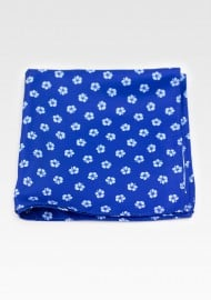 Floral Print Hanky in Blues