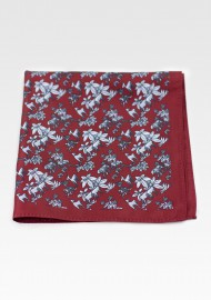 Wild Safari Print Hanky in Maroon Red