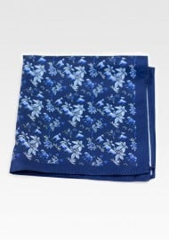 Wild Jungle Print Pocket Square in Blue