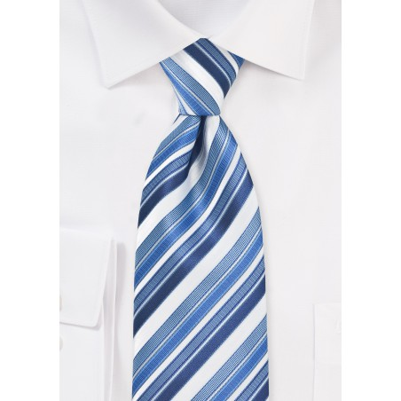 Tonal Blue Striped Tie