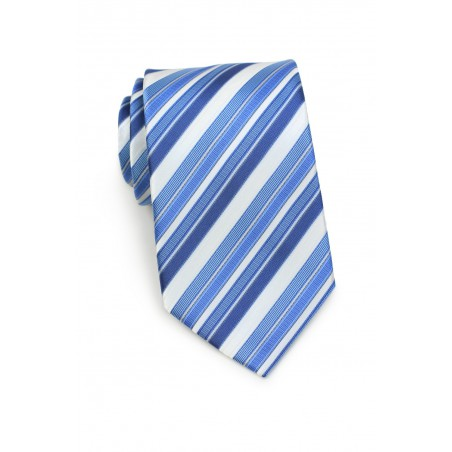 Tonal Blue Royal Blue horizon Blue Striped Tie