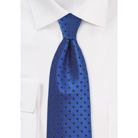 Egyptian Blue Polka Dot Tie