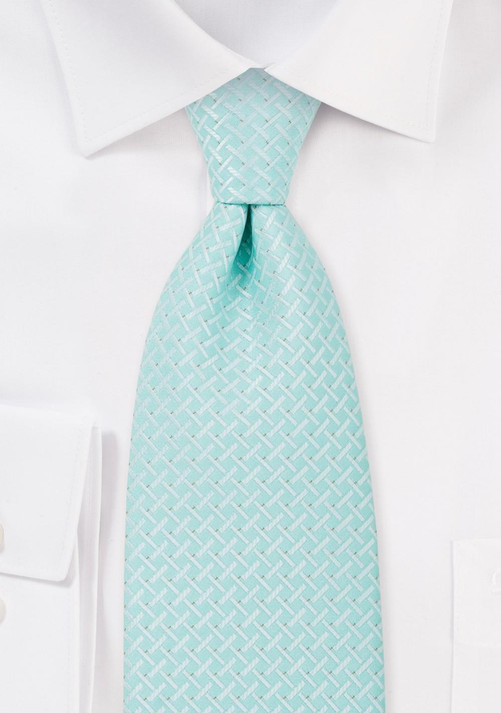 Light Mint Green Kids Necktie
