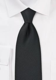 Matte Pique Textured Kids Tie in Black