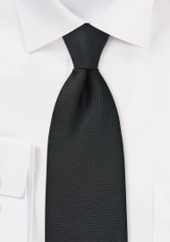 Matte Black Pique Texture Tie in XL