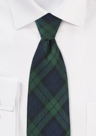 Scottish Tartan Plaid Kids Tie