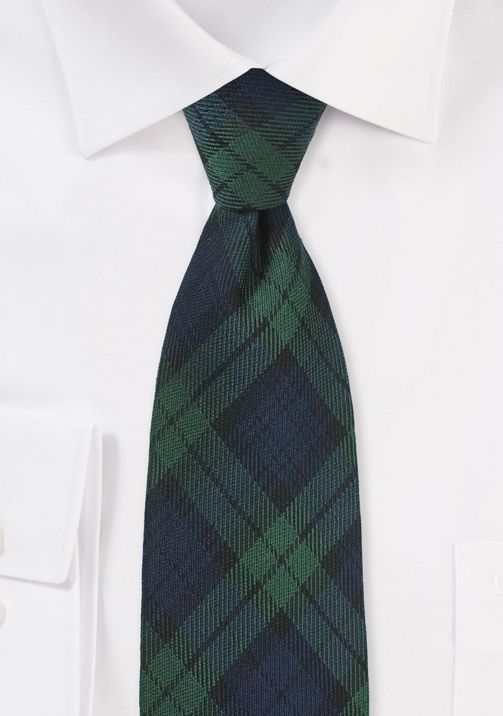 Scottish Tartan Plaid Kids Tie