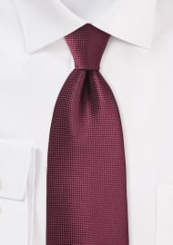 Burgundy Rosewood Color Necktie
