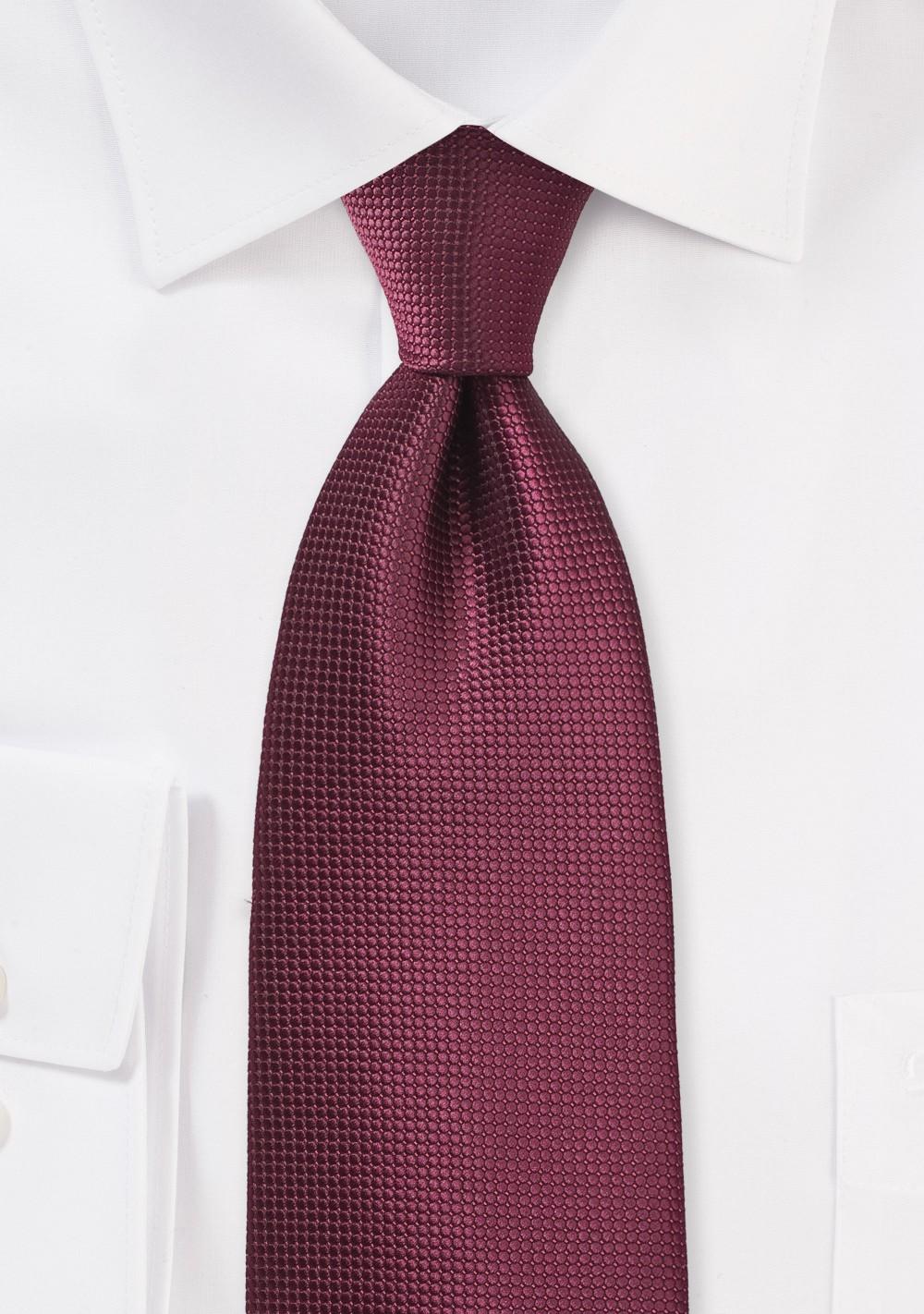 Burgundy Rosewood Color Necktie
