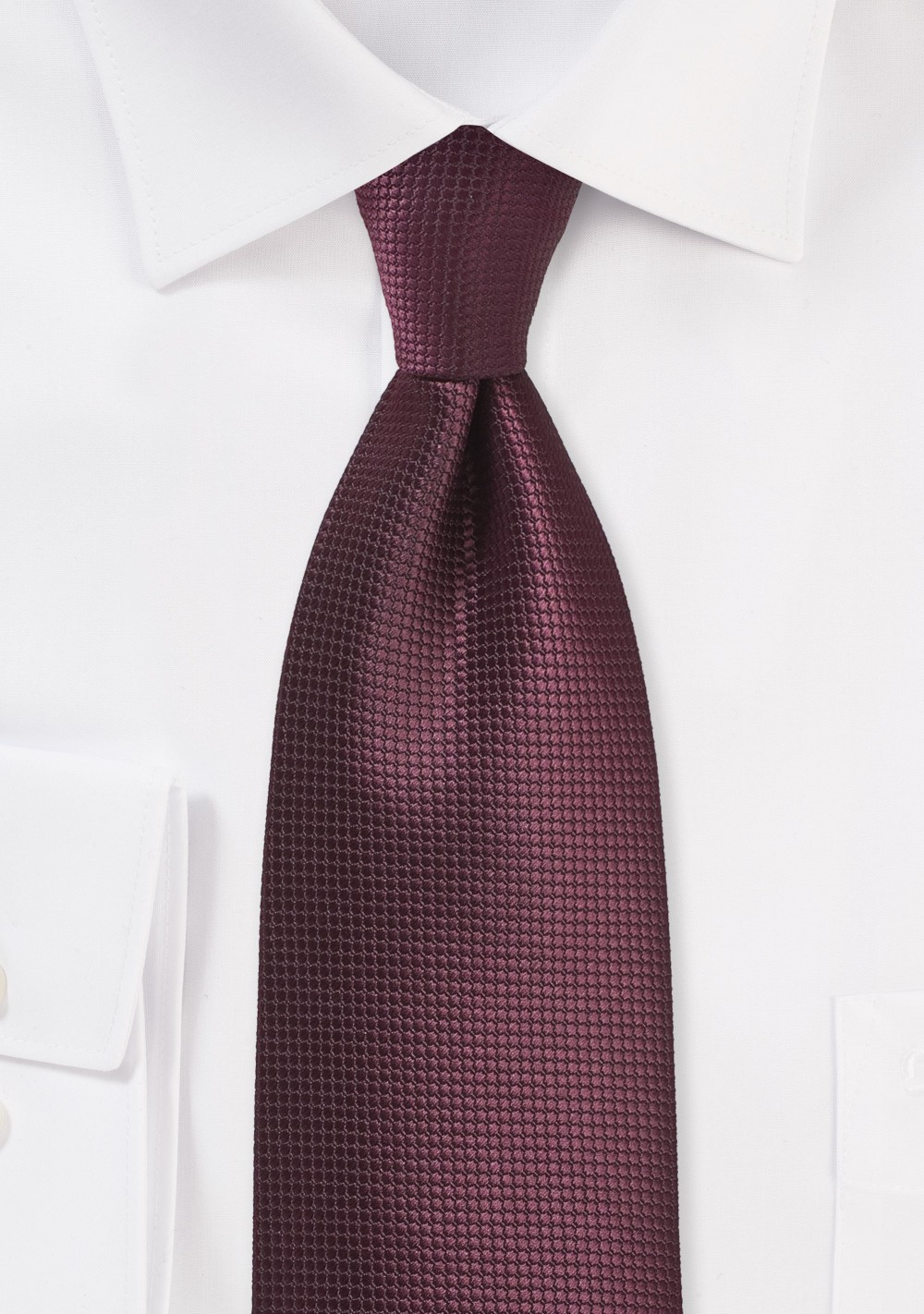 Port Red Colored Tie in XL