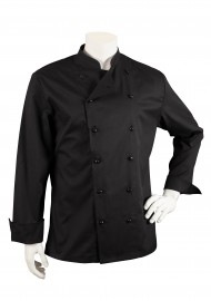 Executive Chef Cooking Jacket in Black in Unisex Fit Front