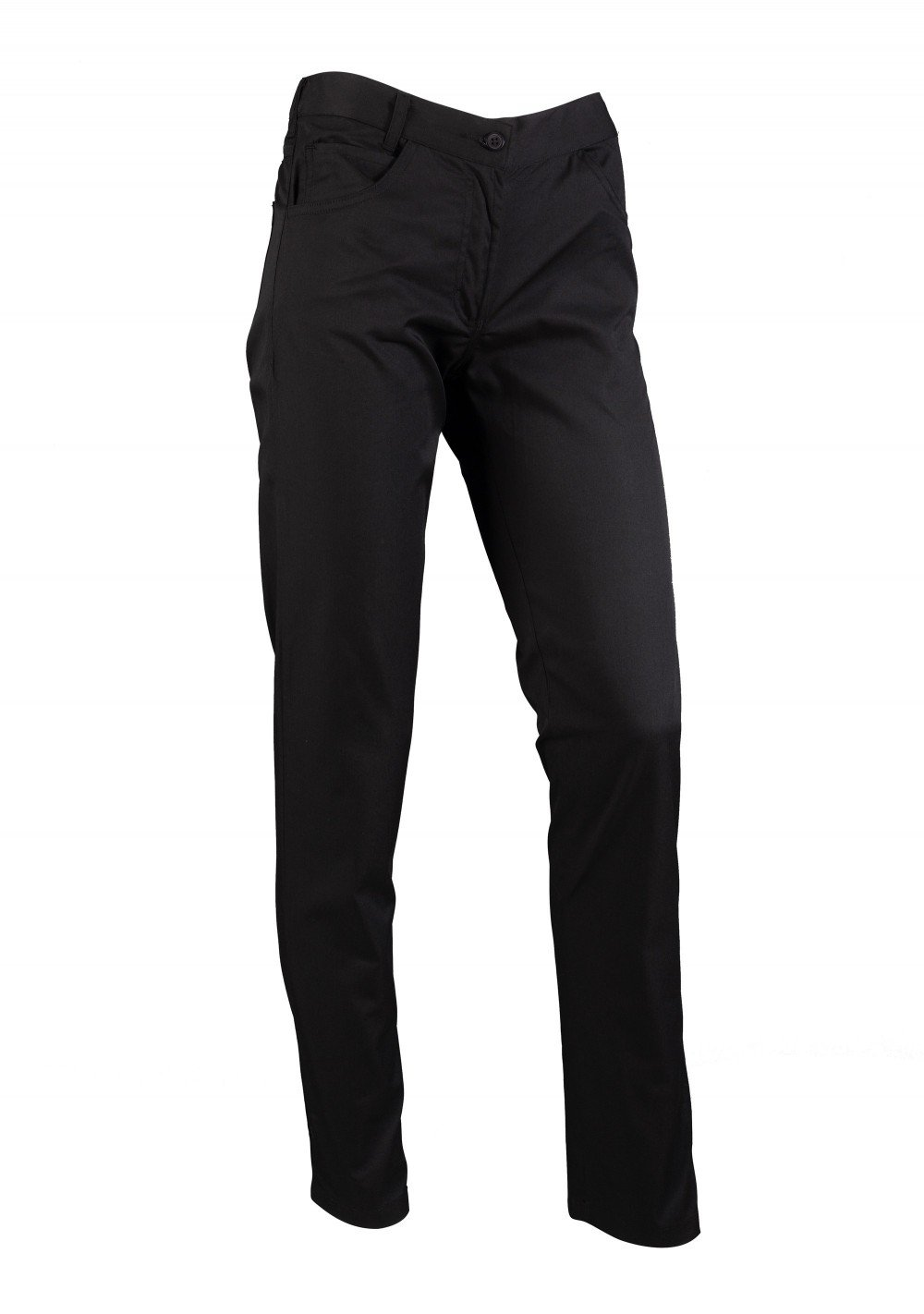 Fitted Women's Chef Cooking Trousers Pants in Black